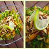 Sommersalat med gule cherrytomater og gul peber