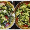 Nem grønsagstærte med asparges, squash og tomater