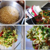 Makaroni med grønsager og fløde