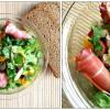 Salat med mynte og serrano skinke