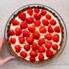 Laktosefri jordbærtærte