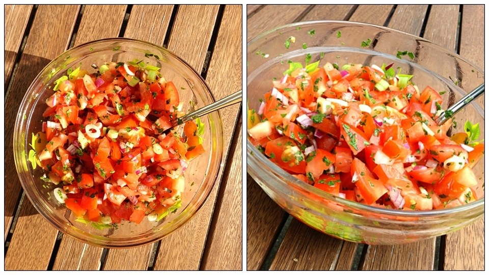 Tomatsalat med citron olivenolie