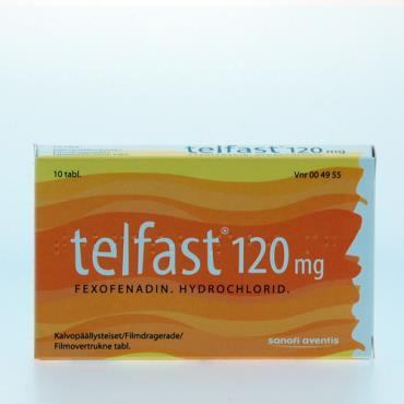 Telfast antihistamin laktosefri