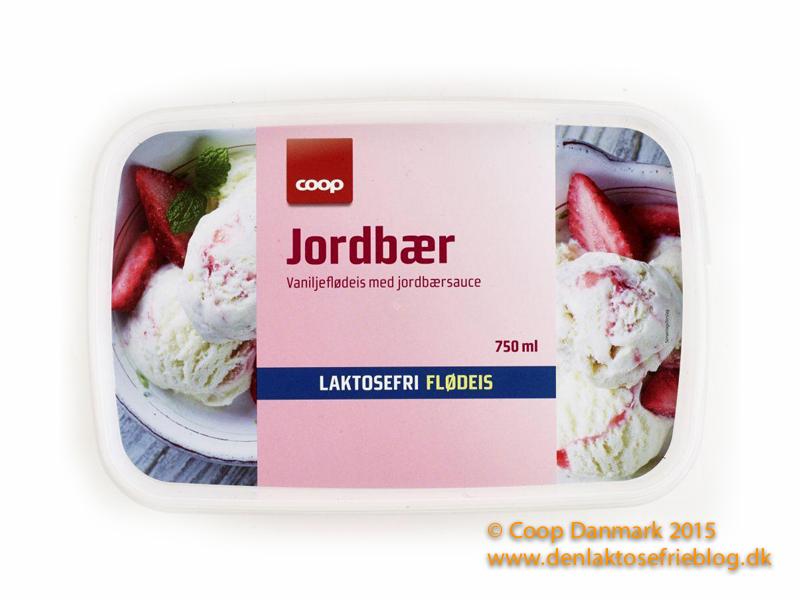 coop laktosefri jordbær flødeis laktosefri super brugsen kvickly 42 95 kr 750 ml is